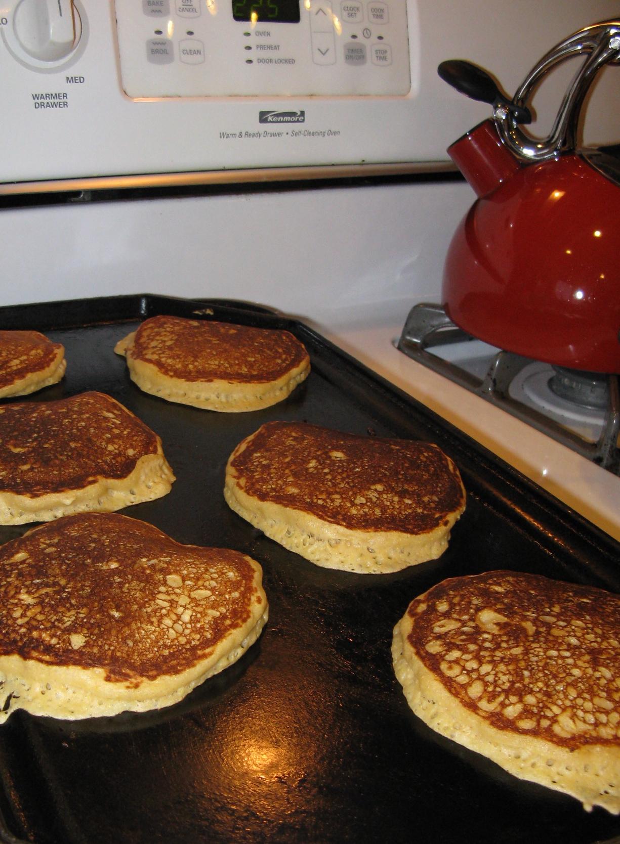 Whole Grain Buttermilk Pancakes | A Healthy Abundance