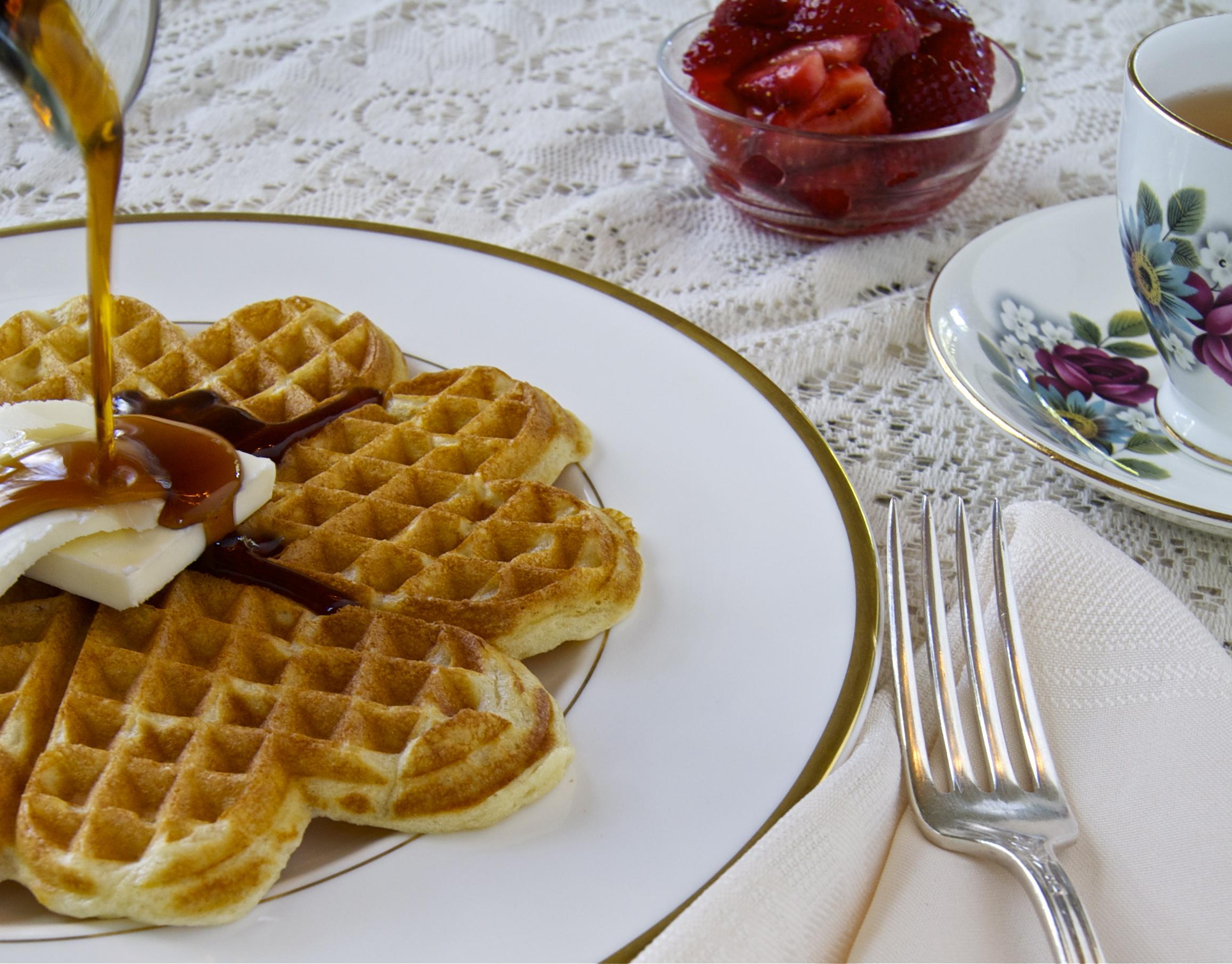 Sour Cream Waffles | A Healthy Abundance